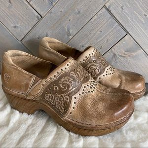 Ariat Leather Tan Clog Shoe Size 7B